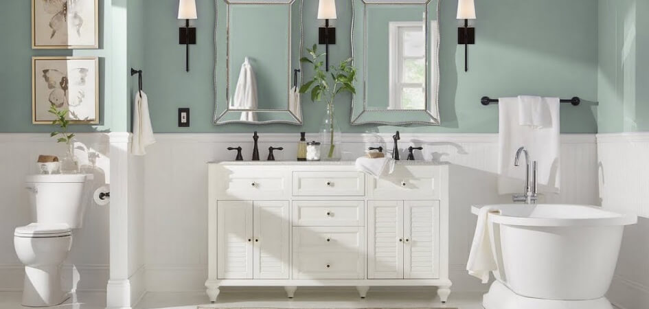 The Best Paint Finish For Bathrooms Chip Colour Tools Paint Colour Matching